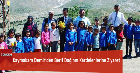 Kaymakam Demir'den Berit Dağının Kardelenlerine Ziyaret