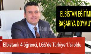 Elbistanlı 4 öğrenci, LGS'de Türkiye 1.'si oldu