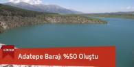 Adatepe Barajı %50 Seviyesine Ulaştı