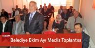 Belediye Ekim Ayı Meclis Toplantısı Yapıldı