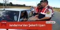 Jandarma'dan Sürücülere Şekerli Uyarı