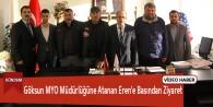 Göksun MYO Müdürlüğüne Atanan Eren'e Basından Ziyaret