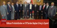 Göksun Protokolünden ve STK'lardan Başkan Erkoç'a Ziyaret