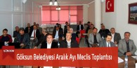 Göksun Belediyesi Aralık Ayı Meclis Toplantısı