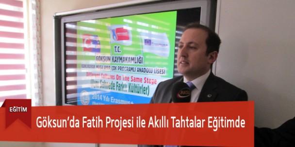 Göksun'da Fatih Projesi ile Akıllı Tahtalar Eğitimde
