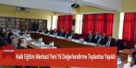 Halk Eğitim Merkezi Yeni Yıl Değerlendirme Toplantısı Yapıldı
