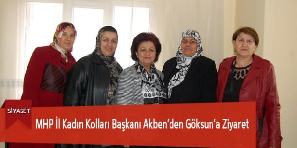 MHP İl Kadın Kolları Başkanı Akben'den Göksun'a Ziyaret