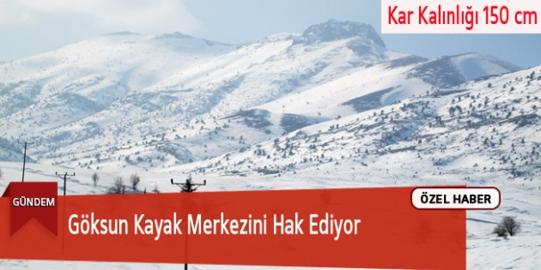 Göksun Kayak Merkezini Hak Ediyor