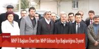 MHP İl Başkanı Öner'den MHP Göksun İlçe Başkanlığına Ziyaret