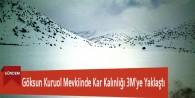 Göksun Kuruol Mevkiinde Kar Kalınlığı 3M'ye Yaklaştı