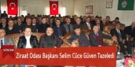 Ziraat Odası Başkanı Selim Cüce Güven Tazeledi