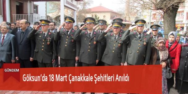 Göksun'da 18 Mart Çanakkale Şehitleri Anıldı