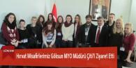 Hırvat Misafirlerimiz Göksun MYO Müdürü Çitil'i Ziyaret Etti