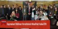 Kaymakam Pehlivan Hırvatistanlı Misafirleri Kabul Etti
