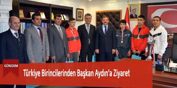 Türkiye Birincilerinden Başkan Aydın'a Ziyaret