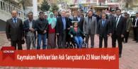 Kaymakam Pehlivan'dan Aslı Sarıçoban'a 23 Nisan Hediyesi