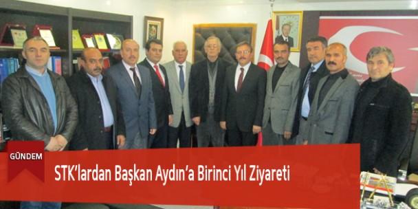STK'lardan Başkan Aydın'a Birinci Yıl Ziyareti