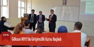 Göksun MYO'da Girişimcilik Kursu Başladı