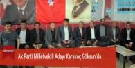 Ak Parti Milletvekili Adayı Karakoç Göksun'da