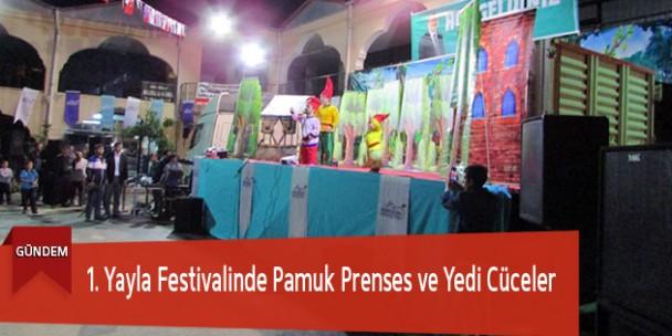 1. Yayla Festivalinde Pamuk Prenses ve Yedi Cüceler