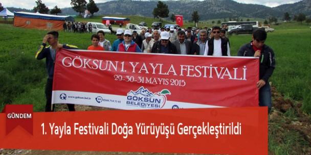 1. Yayla Festivali Doğa Yürüyüşü Gerçekleştirildi