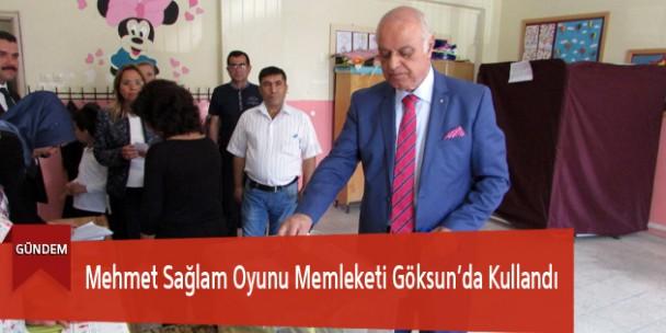 Mehmet Sağlam Oyunu Memleketi Göksun'da Kullandı