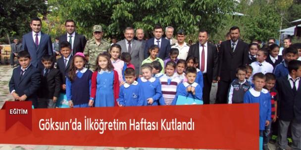 Göksun'da İlköğretim Haftası Kutlandı