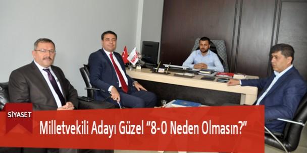 """Milletvekili Adayı Güzel """"8-0 Neden Olmasın?"""""""