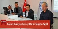Göksun Belediyesi Ekim Ayı Meclis Toplantısı Yapıldı