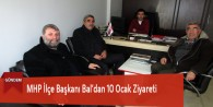 MHP İlçe Başkanı Bal'dan 10 Ocak Ziyareti