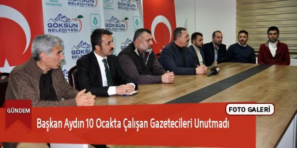 Başkan Aydın 10 Ocakta Çalışan Gazetecileri Unutmadı