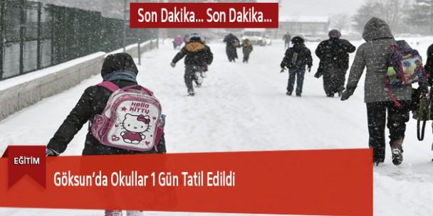 20 Ocak Çarşamba Günü Okullar Tatil