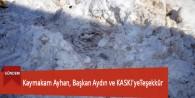 Kaymakam Ayhan, Başkan Aydın ve KASKi'yeTeşekkür