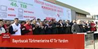Bayırbucak Türkmenlerine 47 Tır Yardım
