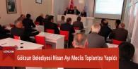 Göksun Belediyesi Nisan Ayı Meclis Toplantısı Yapıldı