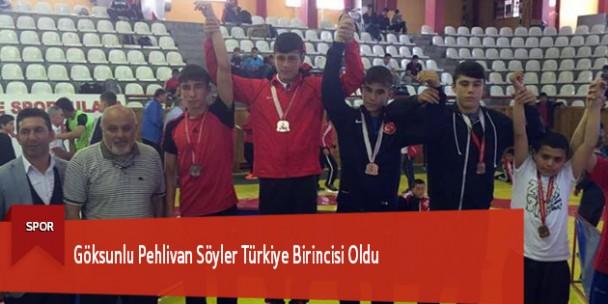 Göksunlu Pehlivan Söyler Türkiye Birincisi Oldu