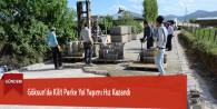 Göksun'da Kilit Parke Yol Yapımı Hız Kazandı