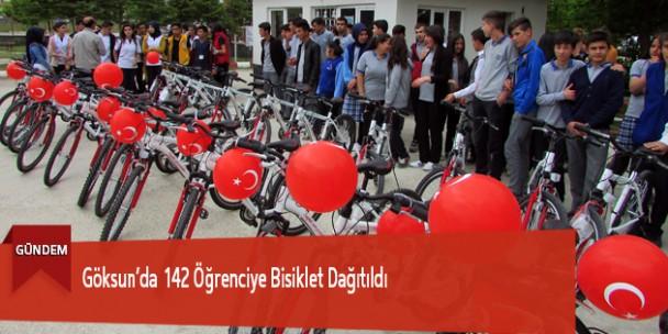 Göksun'da 142 Öğrenciye Bisiklet Dağıtıldı