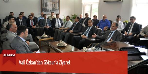 Vali Özkan'dan Göksun'a Ziyaret