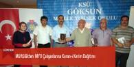 Müftülükten MYO Çalışanlarına Kuran-ı Kerim Dağıtımı