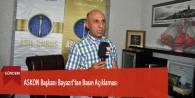 ASKON Başkanı Bayazıt'tan Basın Açıklaması