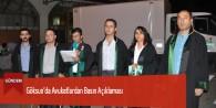 Göksun'da Avukatlardan Basın Açıklaması