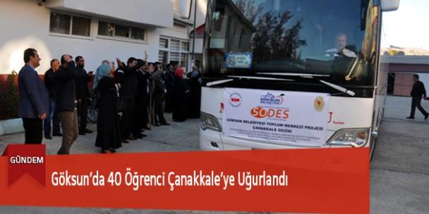 Göksun'da 40 Öğrenci Çanakkale'ye Uğurlandı