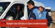 Büyükşehir Zabıta Ekibi Göksun'da Öğrenci Servislerini Denetledi