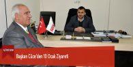 Başkan Cüce'den 10 Ocak Ziyareti