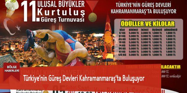 Türkiye'nin Güreş Devleri Kahramanmaraş'ta Buluşuyor