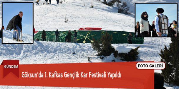 Göksun'da 1. Kafkas Gençlik Kar Festivali Yapıldı