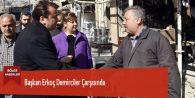 Başkan Erkoç Demirciler Çarşısında
