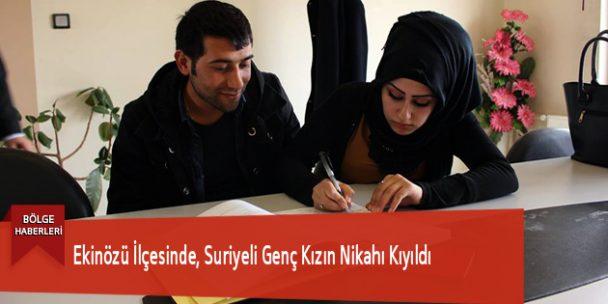 Ekinözü İlçesinde, Suriyeli Genç Kızın Nikahı Kıyıldı