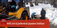 KASKİ, Zorlu Kış Şartlarında da Çalışmalarını Sürdürüyor